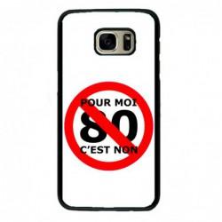 Coque noire pour Samsung S4 mini Non au 80km/h sur les routes- je manifeste