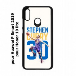 Coque noire pour Huawei P Smart 2019 Stephen Curry Basket NBA Golden State