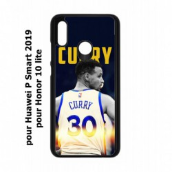 Coque noire pour Huawei P Smart 2019 Stephen Curry Golden State Warriors Basket 30