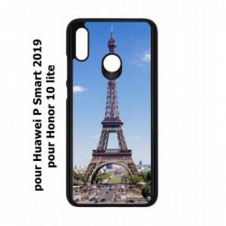 Coque noire pour Huawei P Smart 2019 Tour Eiffel Paris France