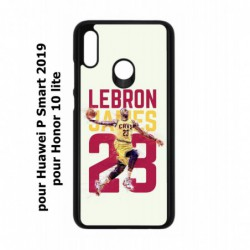 Coque noire pour Huawei P Smart 2019 star Basket Lebron James Cavaliers de Cleveland 23