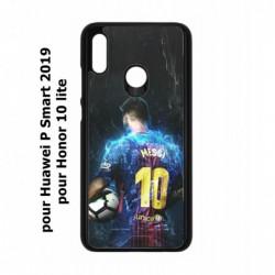 Coque noire pour Huawei P Smart 2019 Lionel Messi FC Barcelone Foot