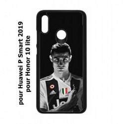 Coque noire pour Honor 10 Lite Cristiano Ronaldo Juventus