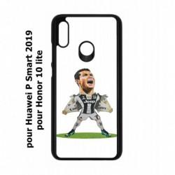 Coque noire pour Honor 10 Lite Cristiano Ronaldo Juventus Turin Football - Ronaldo super héros
