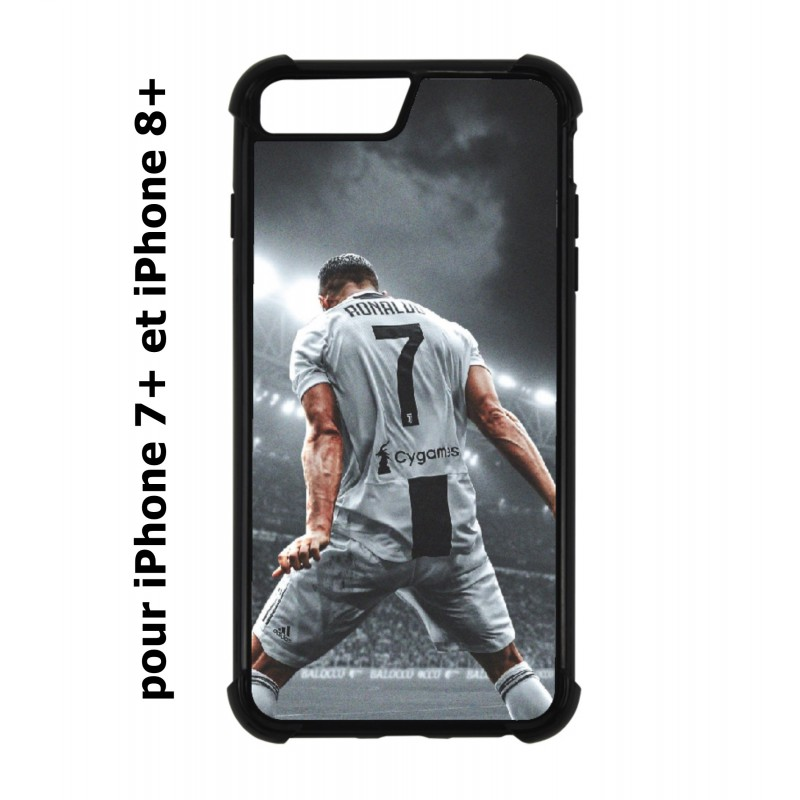 coque perso iphone 7 plus 8 plus cristiano ronaldo juventus turin football stade