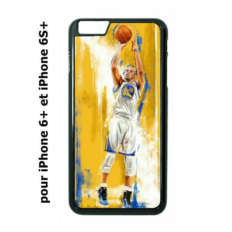 coque perso iphone 6 plus 6s plus stephen curry golden state warriors shoot basket