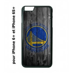 coque perso iphone 6 plus 6s plus stephen curry embleme golden state warriors basket fond bois