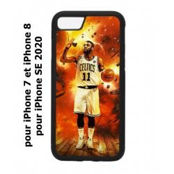 Coque noire pour iPhone 7/8 et iPhone SE 2020 star Basket Kyrie Irving 11 Nets de Brooklyn