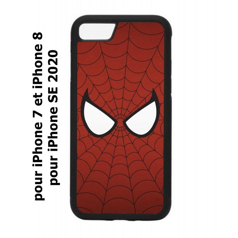 coque perso iphone 7 8 et iphone se 2020 les yeux de spiderman spiderman eyes toile spiderman