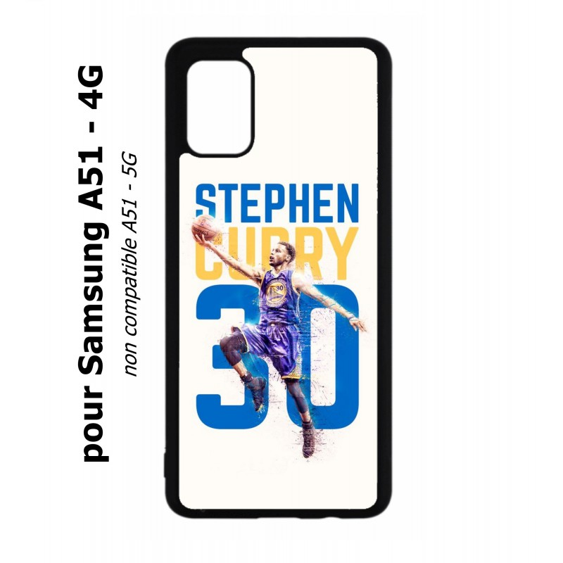 Coque noire pour Samsung Galaxy A51 - 4G Stephen Curry Basket NBA Golden State
