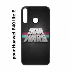 Coque noire pour Huawei P40 Lite E logo Stars Wars fond gris - légende Star Wars