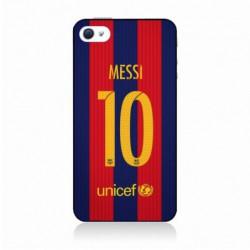 Coque noire pour IPOD TOUCH 4 maillot 10 Lionel Messi FC Barcelone Foot