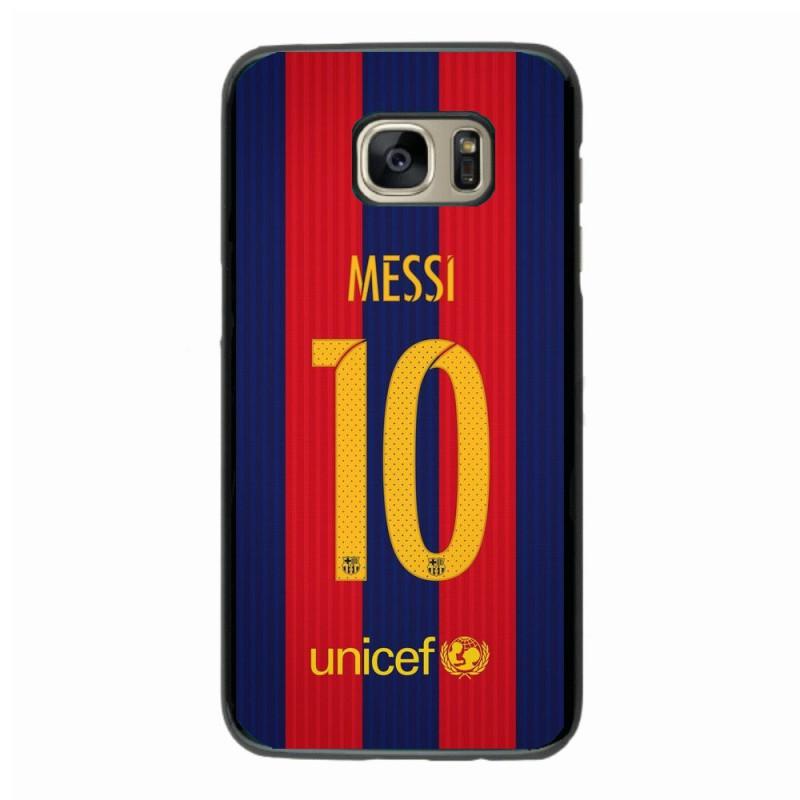 Coque noire pour Samsung i8262 maillot 10 Lionel Messi FC Barcelone Foot