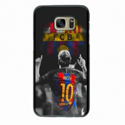 Coque noire pour Samsung i8262 Lionel Messi FC Barcelone Foot
