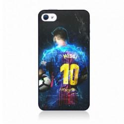 Coque noire pour IPOD TOUCH 4 Lionel Messi FC Barcelone Foot