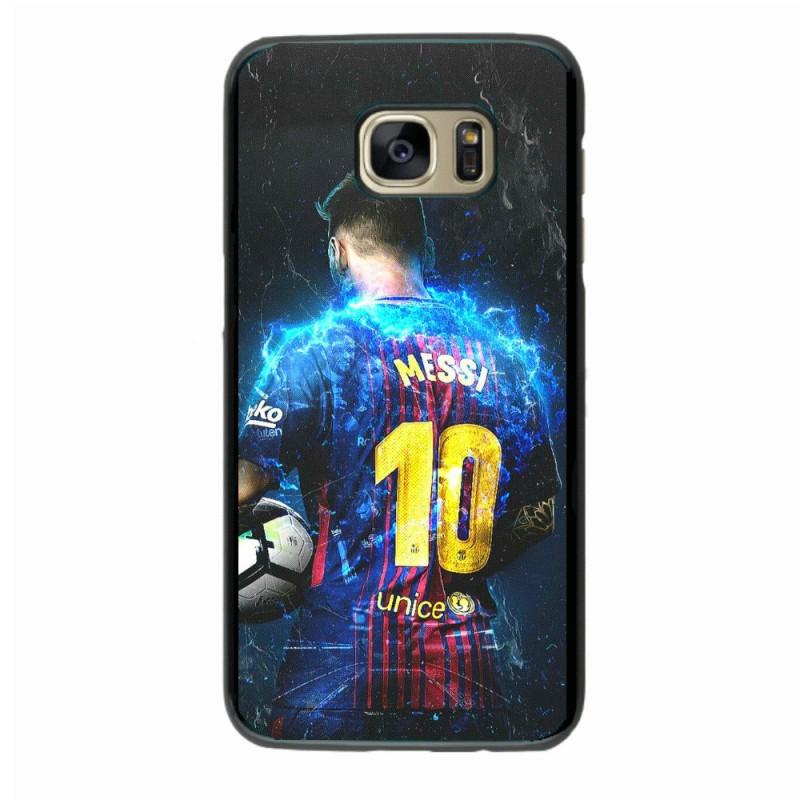 Coque noire pour Samsung S9 Lionel Messi FC Barcelone Foot