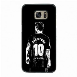 Coque noire pour Samsung i8160 Lionel Messi FC Barcelone Foot