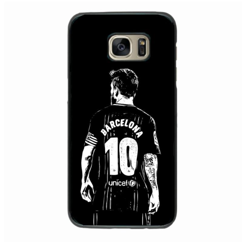 Coque noire pour Samsung J730 Lionel Messi FC Barcelone Foot