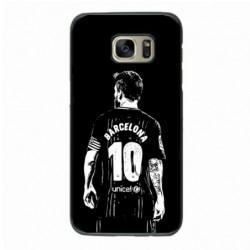 Coque noire pour Samsung S6 Edge Plus Lionel Messi FC Barcelone Foot