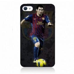 Coque noire pour IPHONE 6/6S Messi Lionel Barcelone Club Barça Football numéro 10