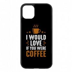 Coque noire pour Samsung Tab 7.7 P6800 I would Love if you were Coffee - coque café