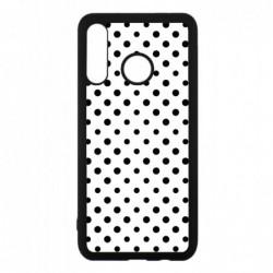 Coque noire pour Huawei Mate 10 Pro motif géométrique pattern noir et blanc - ronds noirs