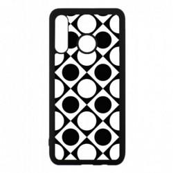 Coque noire pour Huawei Mate 10 Pro motif géométrique pattern noir et blanc - ronds et carrés