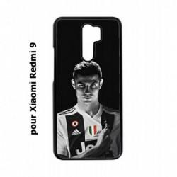 Coque noire pour Xiaomi Redmi 9 Cristiano Ronaldo Club Foot Turin