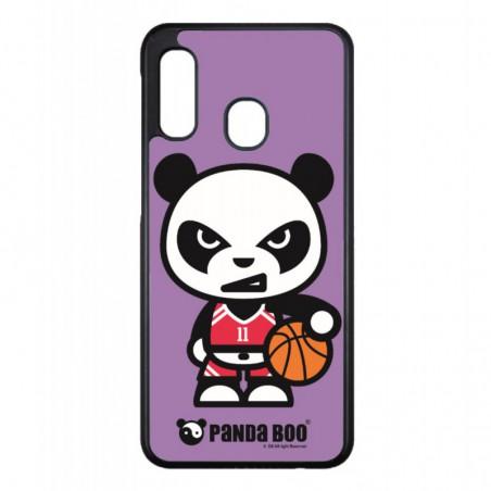 Coque noire pour Samsung ACE S5830 PANDA BOO® Basket Sport Ballon - coque humour