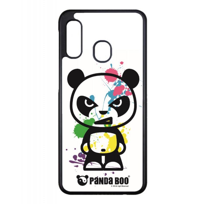 Coque noire pour Samsung Ace Plus S7500 PANDA BOO® paintball color flash - coque humour
