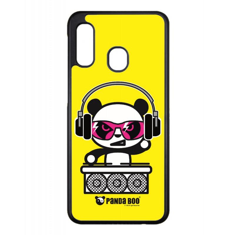 Coque noire pour Samsung Note 3 Neo N7505 PANDA BOO® DJ music - coque humour