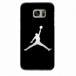 Coque noire pour Samsung i7272 Michael Jordan Fond Noir Chicago Bulls