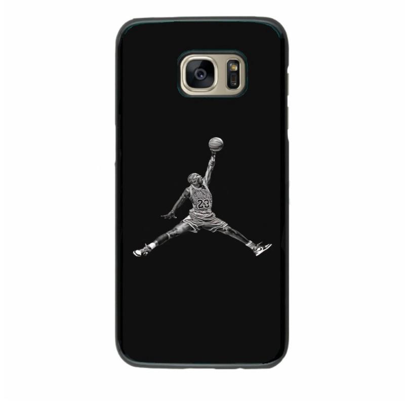 Coque noire pour Samsung i9295 Michael Jordan 23 shoot Chicago Bulls Basket