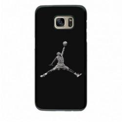 Coque noire pour Samsung J730 Michael Jordan 23 shoot Chicago Bulls Basket