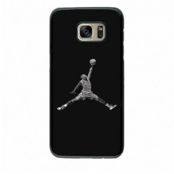 Coque noire pour Samsung S5 Michael Jordan 23 shoot Chicago Bulls Basket