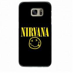 Coque noire pour Samsung Note2 N7100 Nirvana Musique
