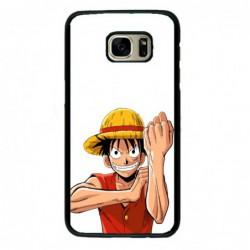 Coque noire pour Samsung i8160 One Piece Dessin animé Monkey D Luffy
