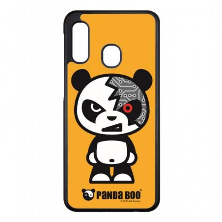 Coque noire pour Samsung Mega 5.8p i9150 PANDA BOO® Terminator Robot - coque humour