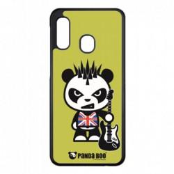 Coque noire pour Samsung ACE S5830 PANDA BOO® Punk Musique Guitare - coque humour
