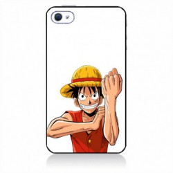Coque noire pour IPOD TOUCH 4 One Piece Dessin animé Monkey D Luffy