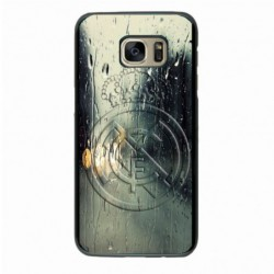 Coque noire pour Samsung J530 emblème Real Madrid club foot Ronaldo
