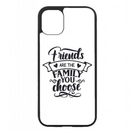 Coque noire pour Iphone 12 et 12 PRO Friends are the family you choose - citation amis famille