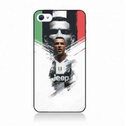 Coque noire pour IPOD TOUCH 4 Ronaldo CR7 Juventus Foot