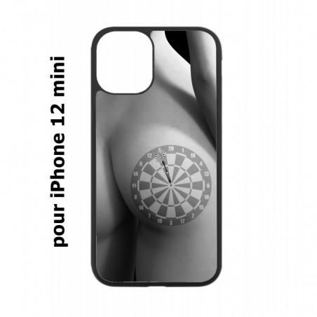 Coque noire pour Iphone 12 MINI coque sexy Cible Fléchettes - coque érotique
