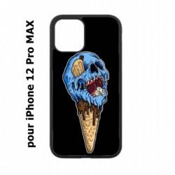 Coque noire pour Iphone 12 PRO MAX Ice Skull - Crâne Glace - Cône Crâne - skull art