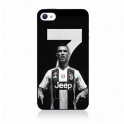 Coque noire pour IPOD TOUCH 6 Ronaldo CR7 Juventus Foot numéro 7