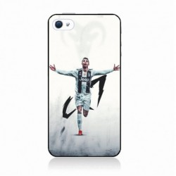 Coque noire pour IPHONE X Cristiano Ronaldo Juventus Turin Football CR7
