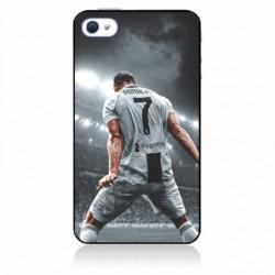 Coque noire pour IPOD TOUCH 6 Cristiano Ronaldo Juventus Turin Football stade