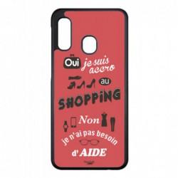 Coque noire pour Samsung Galaxy S5 ProseCafé® coque Humour : OUI je suis accro au Shopping