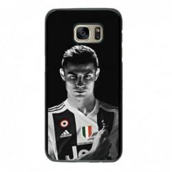 Coque noire pour Samsung i8160 Cristiano Ronaldo Juventus